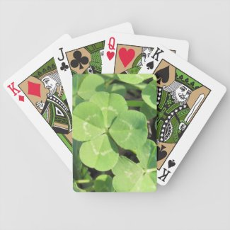 4 Leaf Clover Good Luck Charm Deck Of Cards