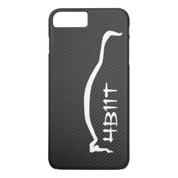 """4B11T"" Mitsubishi Evolution X White Silhouette iPhone 8 Plus/7 Plus Case"