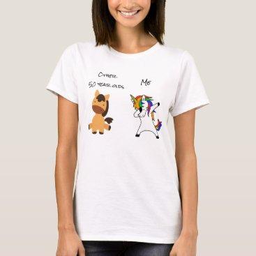 50th Birthday Unicorn Funny Horse Dabbing gift T-Shirt