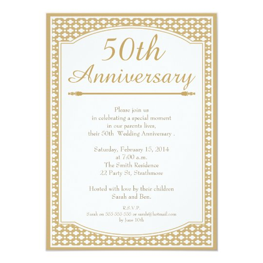 50th Wedding Anniversary Invitation Zazzle