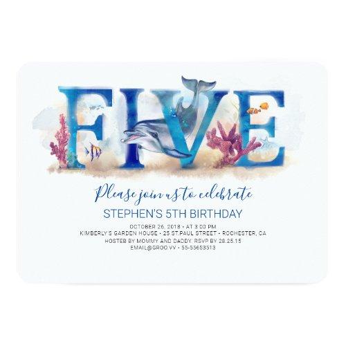 5 Birthday Invitation Magic Under the Sea World