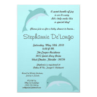 5x7 Under the Sea Dolphin Baby Shower Invitation