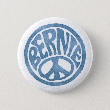 60s Peace Bernie Button