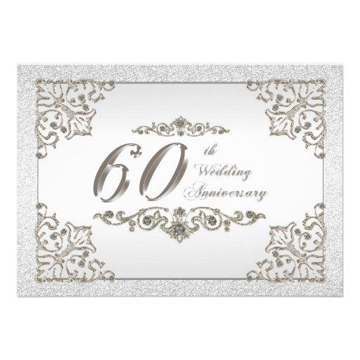 60th Wedding Anniversary Invitation Templates Free