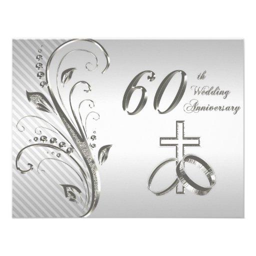 20th Wedding Anniversary Invitation Card