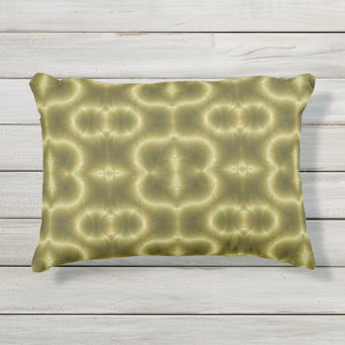 70s Green and Gold Outdoor Pillow