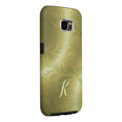 70s Green and Gold with Initial Samsung Galaxy S6 Cases