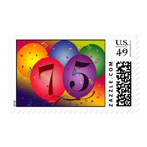 Happy 75th Birthday Balloons