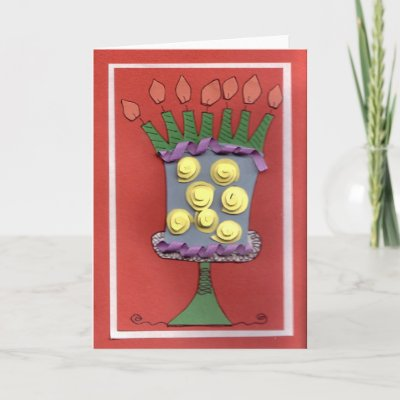 7 Candles Birthday Cake Greeting Card by Jillese