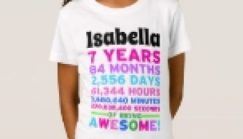 7th Birthday Shirt Boy Girl Seven Years Of Awesome Comfortable Stylish And Fitted Boys