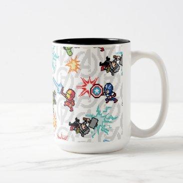 8Bit Avengers Attack Two-Tone Coffee Mug