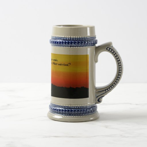 A Beautiful sunrise Beer Stein