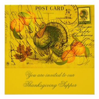 A Bountiful Thanksgiving Personalized Invitation