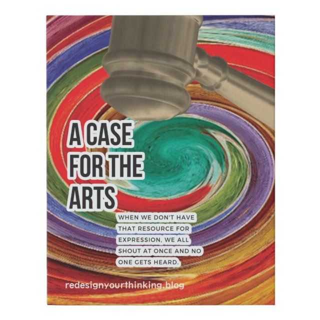 A Case For the Arts Faux Canvas Print