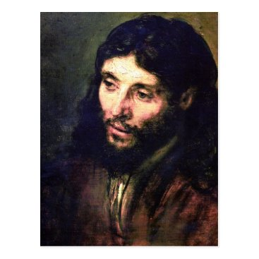 A Christ after life by Rembrandt Postcard