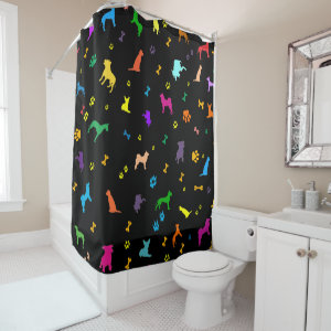A lot of dogs pattern shower curtain