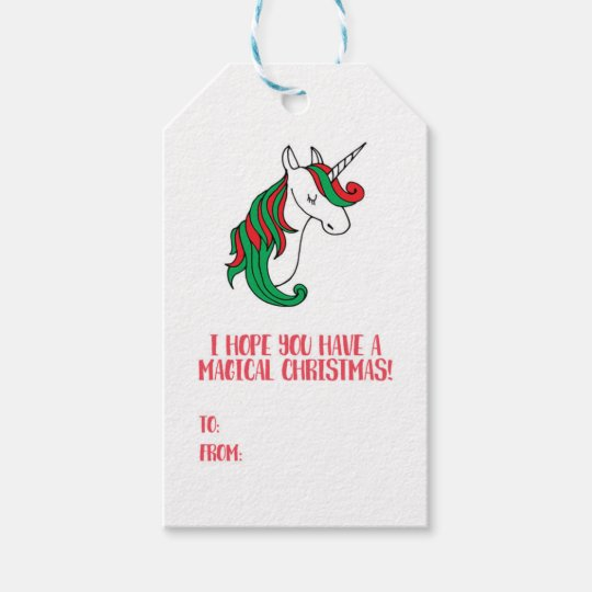 A Magical Unicorn Christmas Gift Tags