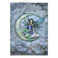 A Piece of Moon Fairy Fantasy Art Card