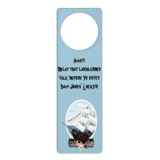 A Pirate Ship Door Knob Hanger