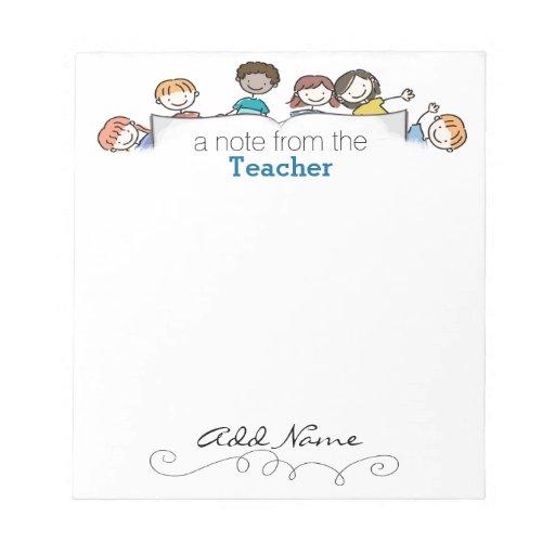 A Teacher's Custom Notepad