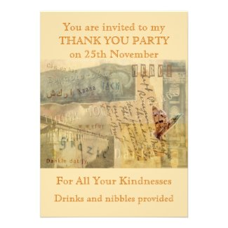 A Thousand Thanks Personalized Invite