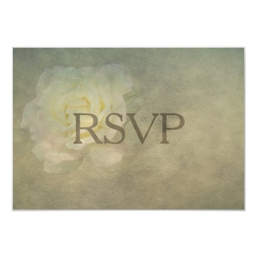 A Vintage Rose Romance RSVP 3.5x5 Paper Invitation Card