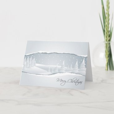 A White Christmas Holiday Card