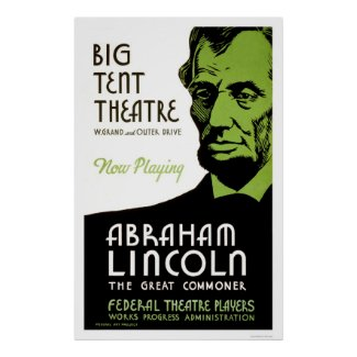 Abraham Lincoln Drama 1936 WPA print