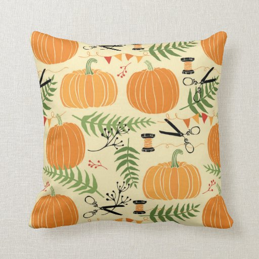 Abstract Autumn Patterns Throw Pillow