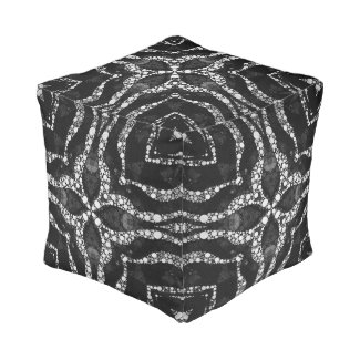 Abstract Bling Pattern Square Pouf Cube Pouf