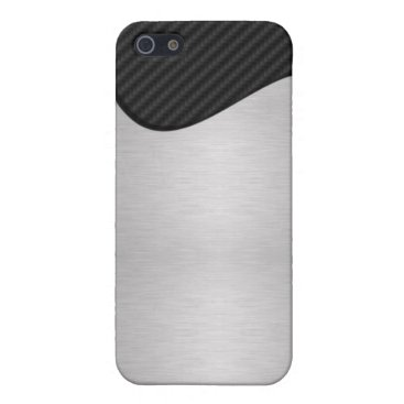 Abstract Carbon Fiber / Steel Cover For iPhone SE/5/5s