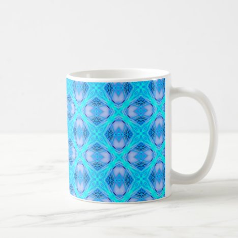 Abstract Circles Arches Lattice Aqua Blue Coffee Mug