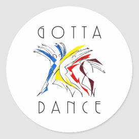 Abstract Dancers Dancing - Dance Lover Artwork Classic Round Sticker