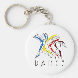 Abstract Dancers Dancing - Dance Lover Artwork Keychain