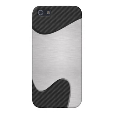 Abstract Faux Carbon Fiber / Steel iPhone SE/5/5s Cover