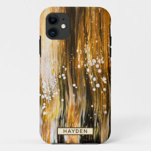 Abstract Fluid Art Pour Personalized iPhone 11 Case