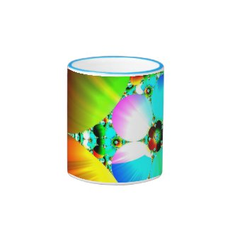 Crystal Sunrise - Abstract Fractal Rainbow full Mugs