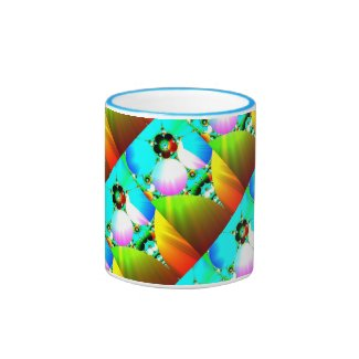 Crystal Sunrise - Abstract Fractal Rainbow Mug