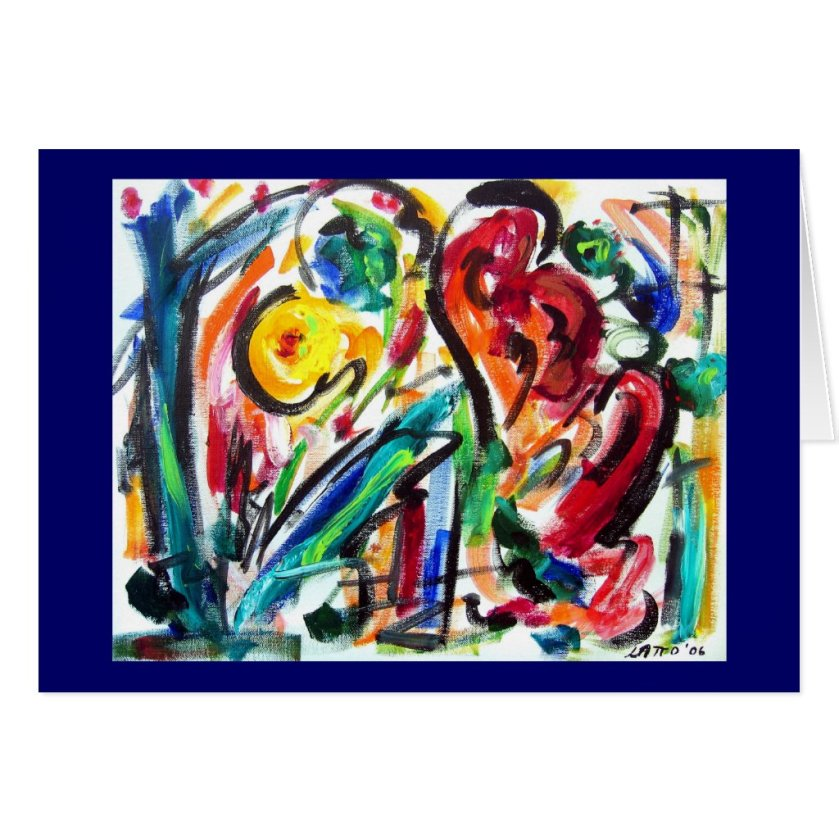 Abstract Heart Happiness Card
