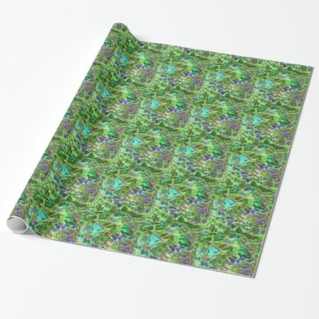 Abstract Pattern of Leaves Wrapping Paper