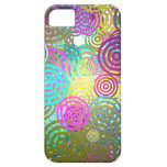 Abstract Retro circle pattern casemate cases