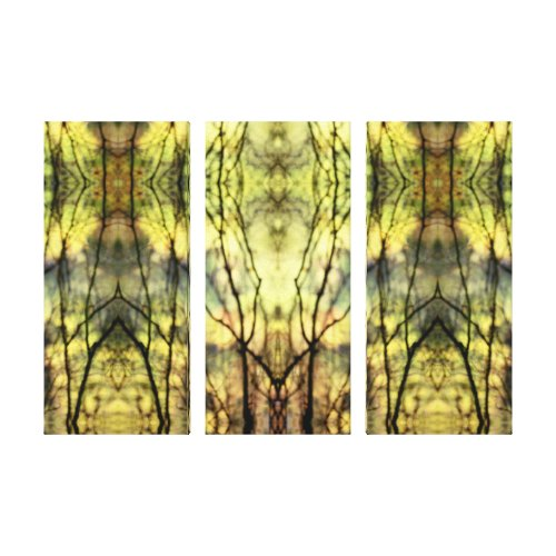 Abstract Yellow Trees Canvas Print