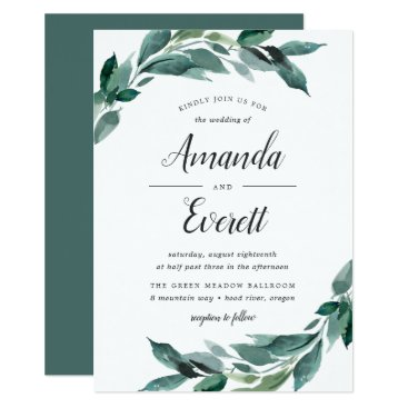 Abundant Foliage Wedding Invitation