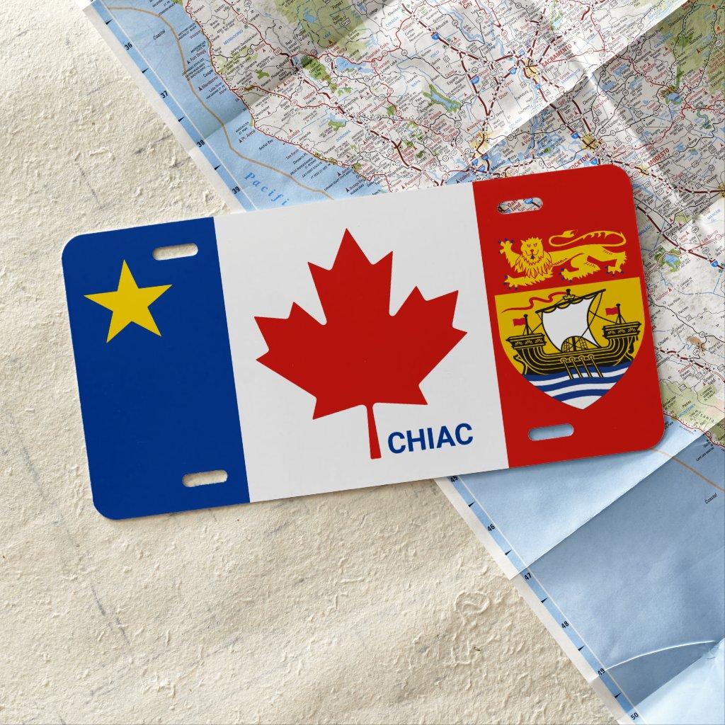Acadian Chiac New Brunswick Canadian License Plate