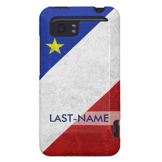 Acadian Flag Surname Distressed Grunge Personalize HTC Vivid / Raider 4G Cover