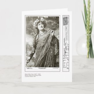 Actress Ellen Terry Greeting Card