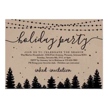 Add Company Logo, Business Christmas Holiday Party Card
