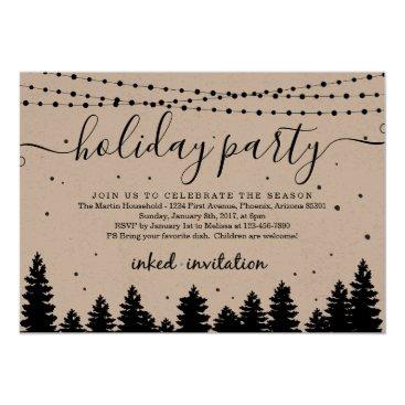 Add Company Logo, Business Christmas Holiday Party Invitation