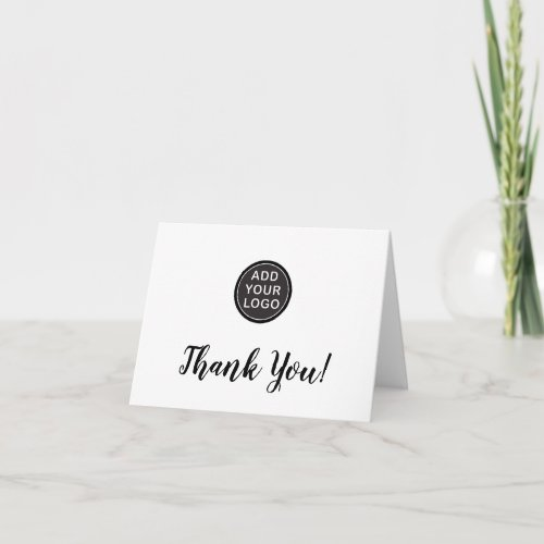 Add custom logo business thank you cards