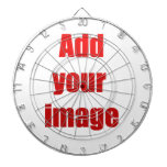 Add your image to customize dartboards